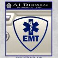 Emt Triangular Badge Decal Sticker Blue Vinyl 120x120