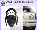 Eve from Wall e D1 Decal Sticker Carbon FIber Black Vinyl 120x97