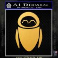 Eve from Wall e D1 Decal Sticker Gold Vinyl 120x120