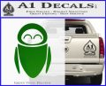 Eve from Wall e D1 Decal Sticker Green Vinyl Logo 120x97
