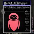 Eve from Wall e D1 Decal Sticker Pink Emblem 120x120