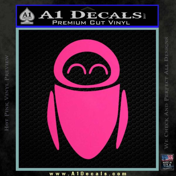 Eve from Wall e D1 Decal Sticker Pink Hot Vinyl