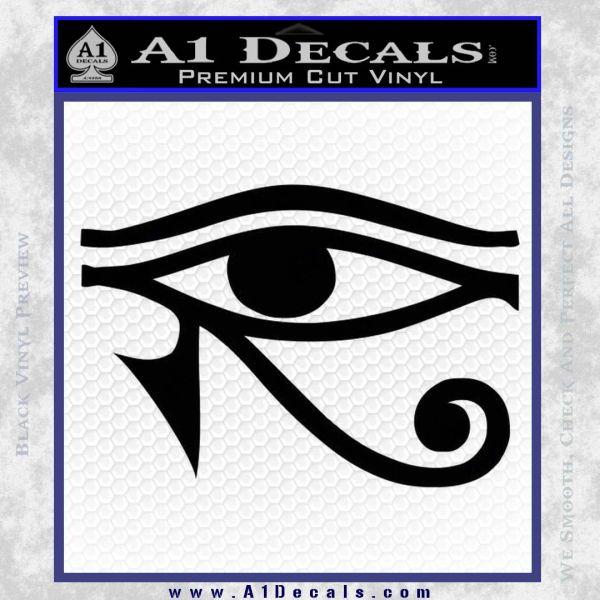 Eye of Horus Decal Sticker Rah Black Vinyl