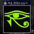 Eye of Horus Decal Sticker Rah Lime Green Vinyl 120x120