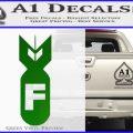 F Bomb Decal Sticker Green Vinyl Logo 120x120
