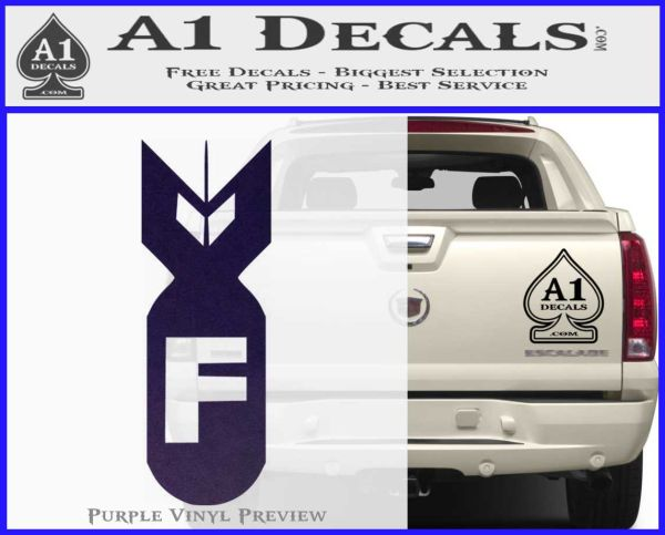 F It Decal Window Sticker Car Truck Chevy Ford GMC