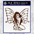 Fairy Girl Decal Sticker BROWN Vinyl 120x120