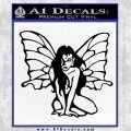 Fairy Girl Decal Sticker Black Vinyl 120x120