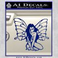 Fairy Girl Decal Sticker Blue Vinyl 120x120