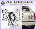 Fairy Girl Decal Sticker Carbon FIber Black Vinyl 120x97