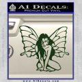 Fairy Girl Decal Sticker Dark Green Vinyl 120x120