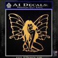 Fairy Girl Decal Sticker Gold Vinyl 120x120