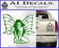 Fairy Girl Decal Sticker Green Vinyl Logo 120x97