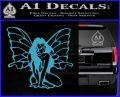 Fairy Girl Decal Sticker Light Blue Vinyl 120x97