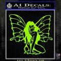 Fairy Girl Decal Sticker Lime Green Vinyl 120x120