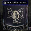Fairy Girl Decal Sticker Metallic Silver Emblem 120x120