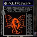 Fairy Girl Decal Sticker Orange Emblem 120x120