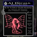 Fairy Girl Decal Sticker Pink Emblem 120x120