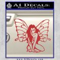 Fairy Girl Decal Sticker Red 120x120