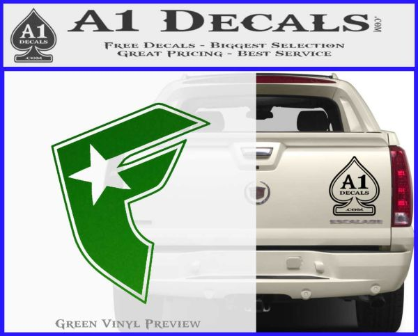 Famous Stars And Straps F Decal Sticker » A1 Decals Famous Stars And Straps Logo Green