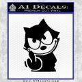 Felix The Cat The Finger Decal Sticker Black Vinyl 120x120
