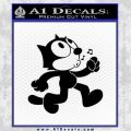 Felix The Cat Whistle Decal Sticker Black Vinyl 120x120