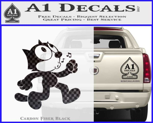 Felix The Cat Whistle Decal Sticker A1 Decals