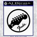 Fender Circle Decal Sticker Black Vinyl 120x120