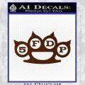 Five Finger Death Punch Decal Sticker 5FDP BROWN Vinyl 120x120
