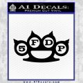 Five Finger Death Punch Decal Sticker 5FDP Black Vinyl 120x120