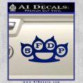 Five Finger Death Punch Decal Sticker 5FDP Blue Vinyl 120x120