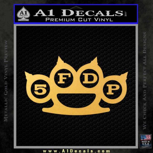 Five Finger Death Punch Decal Sticker 5FDP Gold Vinyl