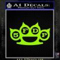 Five Finger Death Punch Decal Sticker 5FDP Lime Green Vinyl 120x120