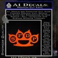 Five Finger Death Punch Decal Sticker 5FDP Orange Emblem 120x120