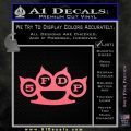 Five Finger Death Punch Decal Sticker 5FDP Pink Emblem 120x120