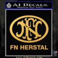 Fn Herstal Decal Sticker Gold Vinyl 120x120