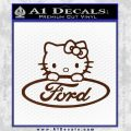 Ford Hello Kitty Full Decal Sticker BROWN Vinyl 120x120