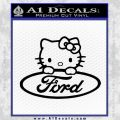 Ford Hello Kitty Full Decal Sticker Black Vinyl 120x120