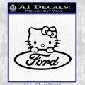 Ford Hello Kitty Full Decal Sticker Black Vinyl 120x120