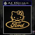 Ford Hello Kitty Full Decal Sticker Gold Vinyl 120x120