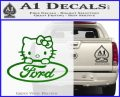 Ford Hello Kitty Full Decal Sticker Green Vinyl Logo 120x97