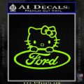 Ford Hello Kitty Full Decal Sticker Lime Green Vinyl 120x120