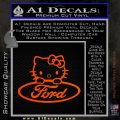 Ford Hello Kitty Full Decal Sticker Orange Emblem 120x120