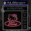 Ford Hello Kitty Full Decal Sticker Pink Emblem 120x120