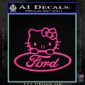 Ford Hello Kitty Full Decal Sticker Pink Hot Vinyl 120x120