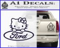 Ford Hello Kitty Full Decal Sticker PurpleEmblem Logo 120x97