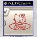 Ford Hello Kitty Full Decal Sticker Red 120x120