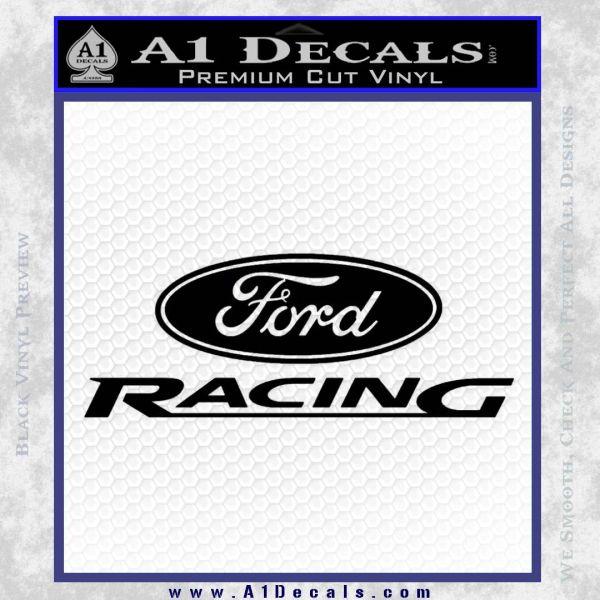 black ford racing logo. ford racing decal sticker black vinyl logo