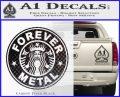 Forever Metal Decal Sticker Starbucks Carbon FIber Black Vinyl 120x97
