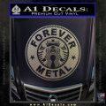 Forever Metal Decal Sticker Starbucks Carbon FIber Chrome Vinyl 120x120